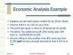 economic analysis example