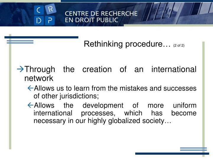Rethinking procedure…