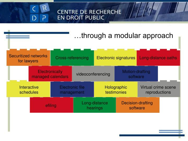 …through a modular approach