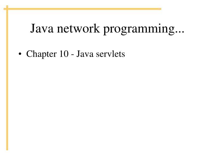 Java network programming...