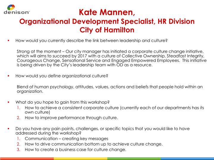 Kate mannen organizational development specialist hr division city of hamilton1