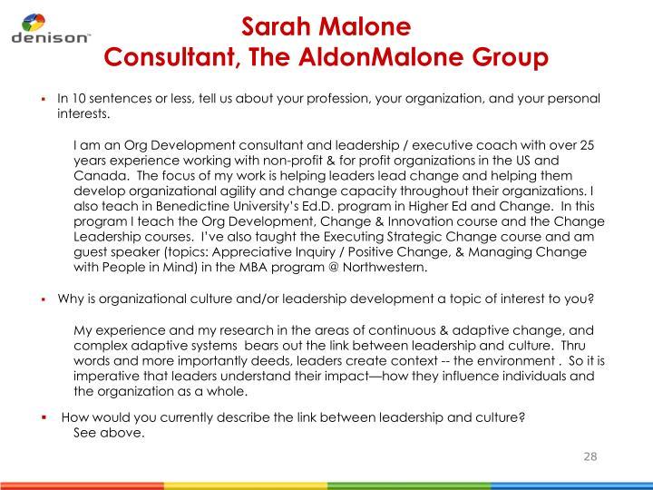 Sarah Malone