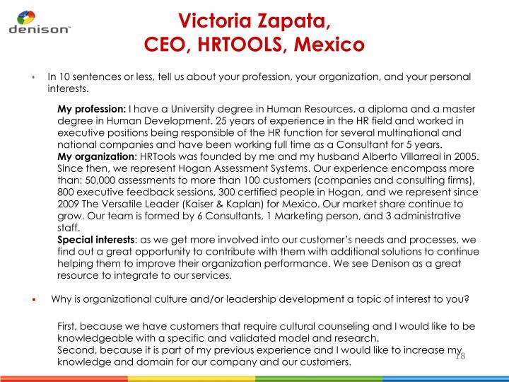 Victoria Zapata,