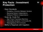 key facts investment protection