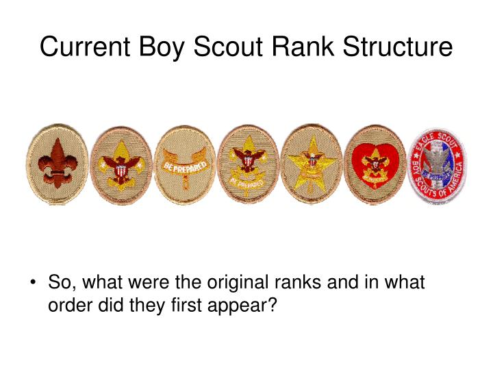 current boy scout rank structure n.