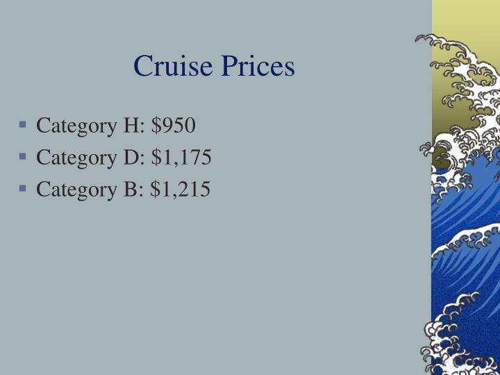 Cruise Prices