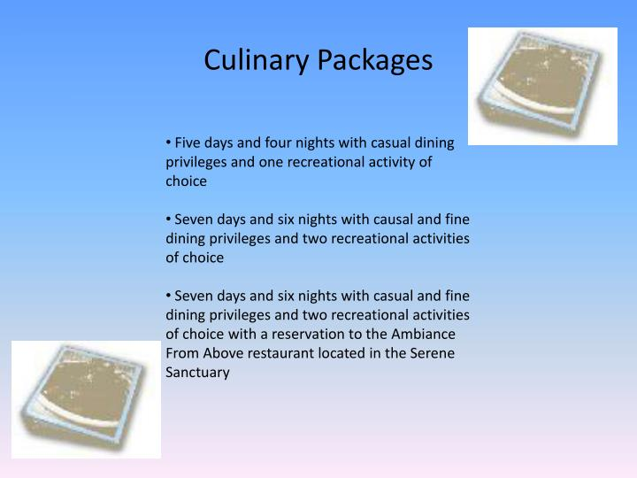 Culinary Packages