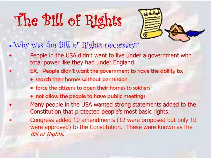 the bill of rights n.