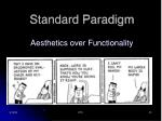 standard paradigm aesthetics over functionality