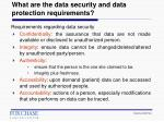 what are the data security and data protection requirements