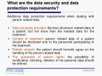 what are the data security and data protection requirements1