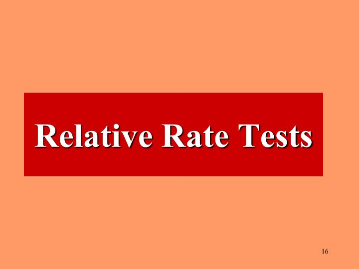 Relative Rate Tests