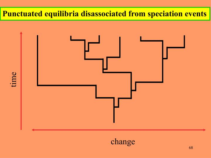 Punctuated equilibria disassociated from speciation events