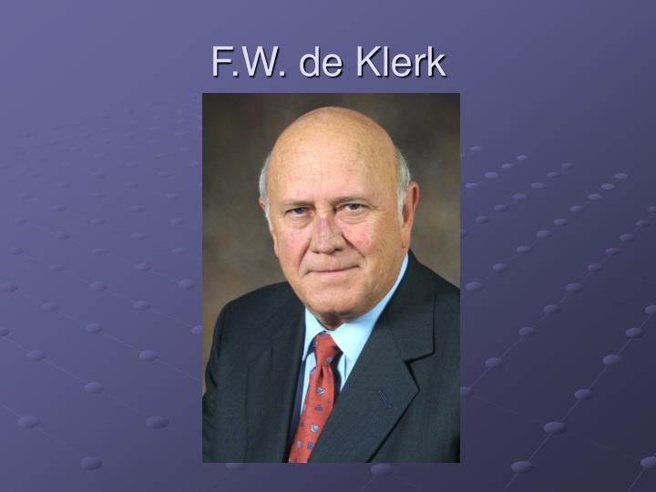 F.W. de Klerk