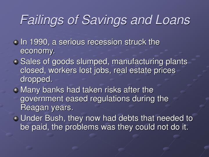 Failings of Savings and Loans