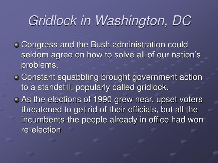 Gridlock in Washington, DC