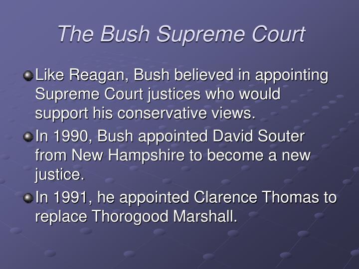 The Bush Supreme Court