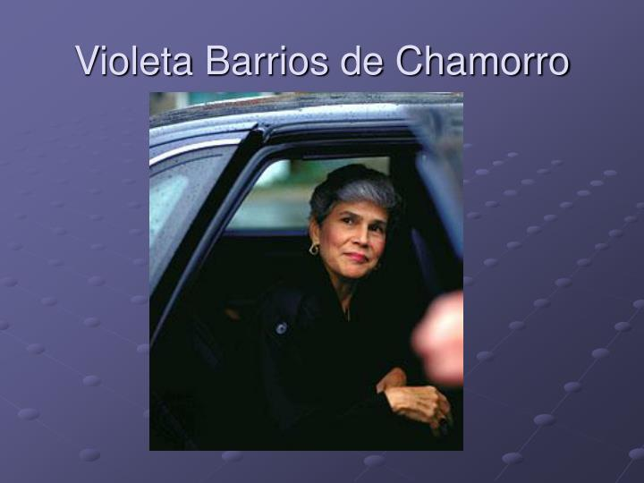 Violeta Barrios de Chamorro