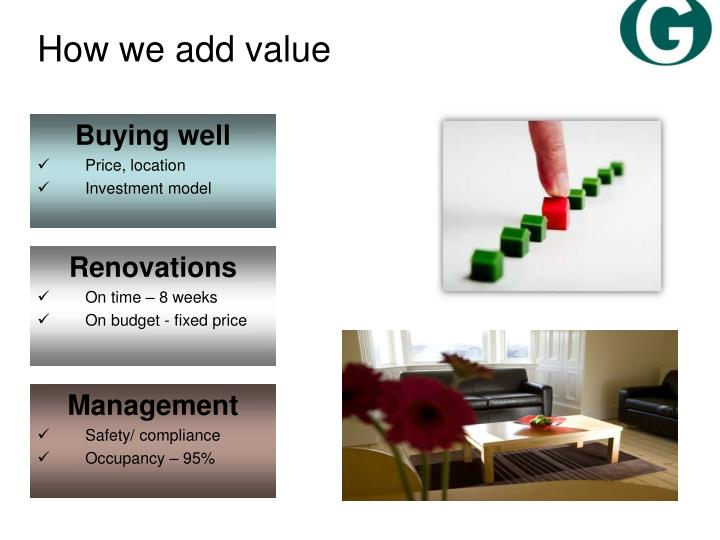 How we add value