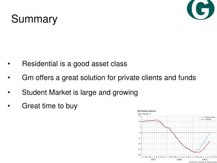 Residential is a good asset class