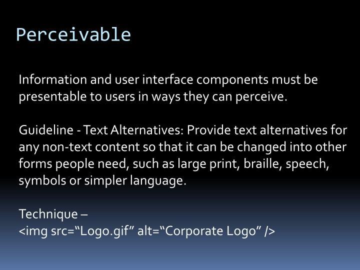 Perceivable