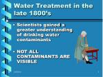 water treatment in the late 1800 s