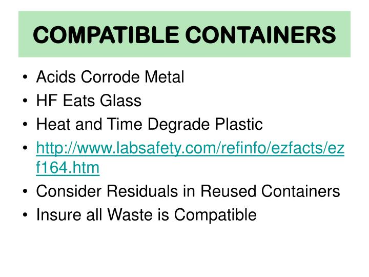 Compatible containers
