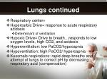 lungs continued