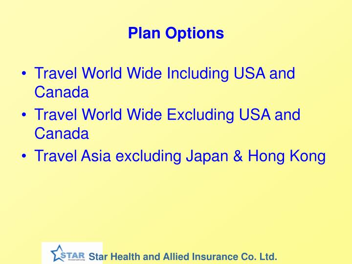 Plan Options