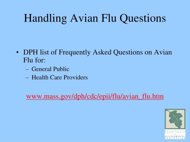 Handling Avian Flu Questions