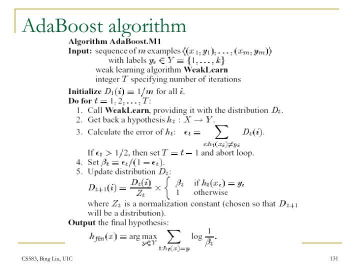 AdaBoost algorithm