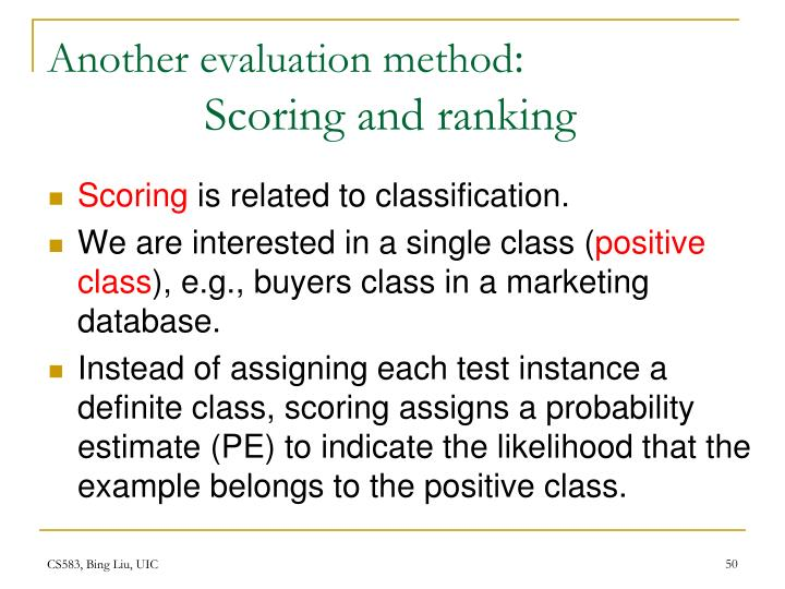 Another evaluation method