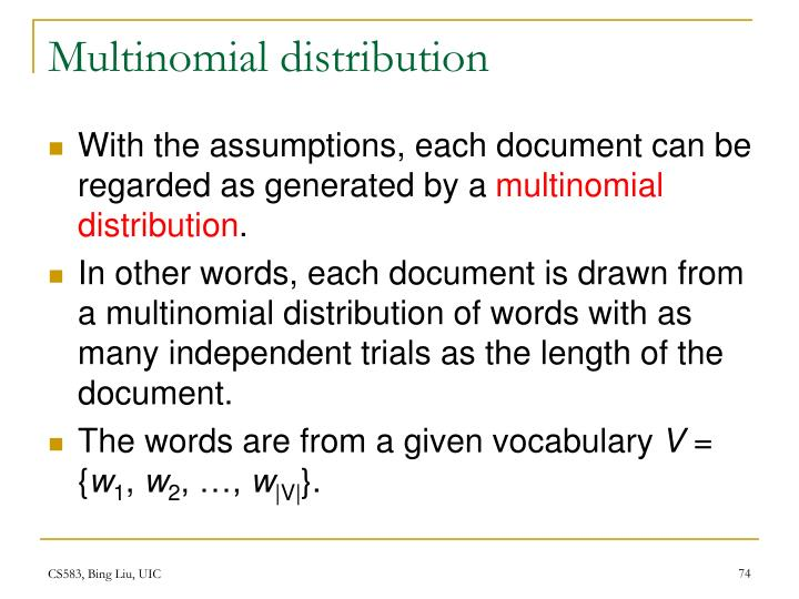 Multinomial distribution