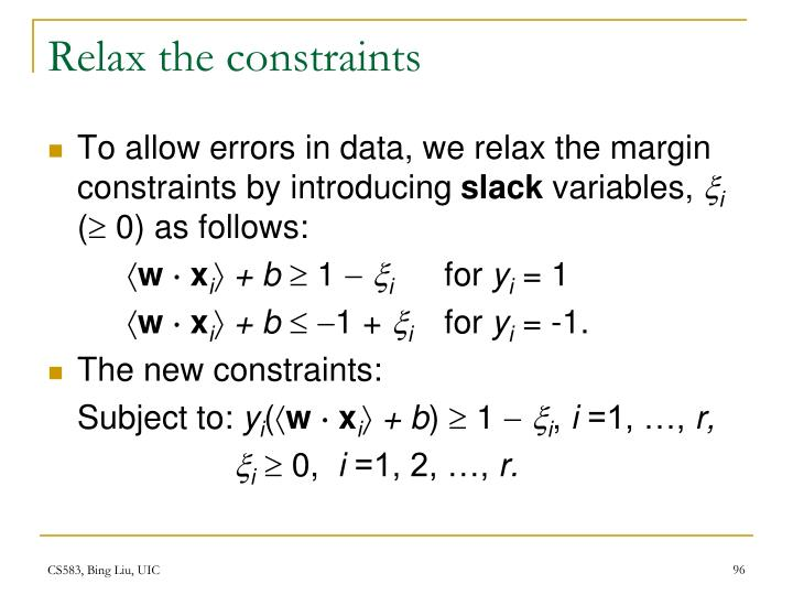 Relax the constraints