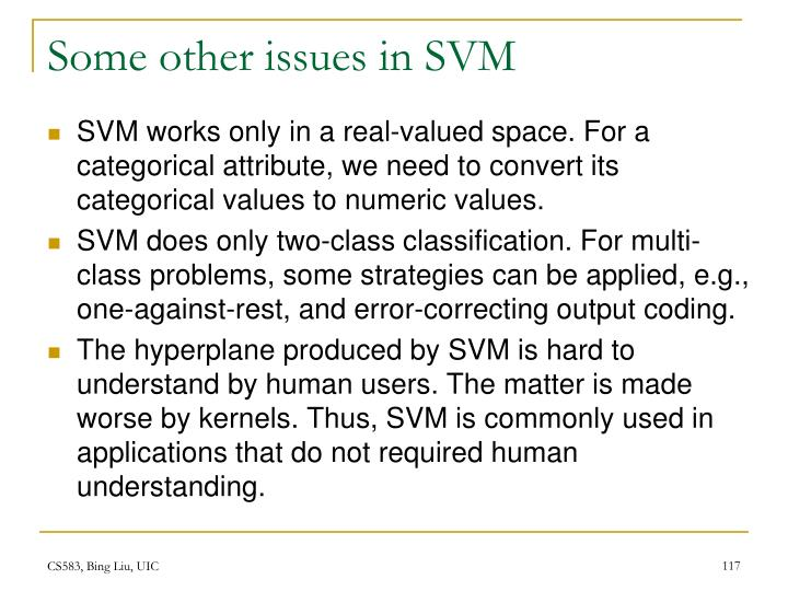 Some other issues in SVM