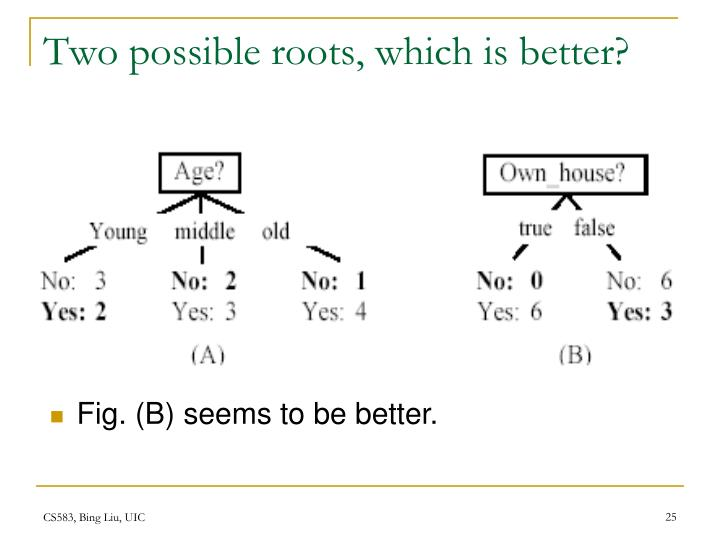 Two possible roots, which is better?