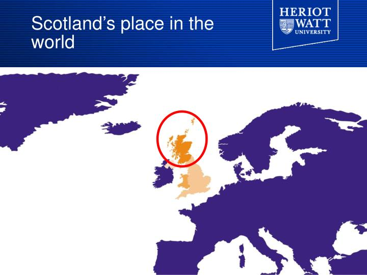 Scotland s place in the world