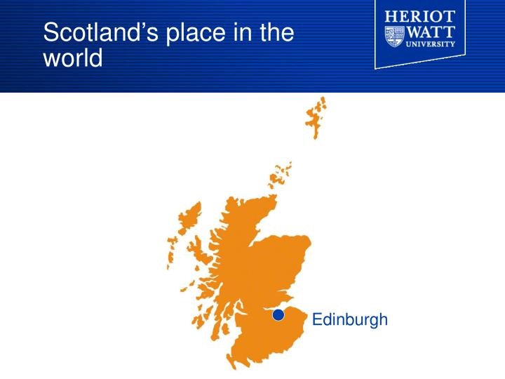 Scotland's place in the world