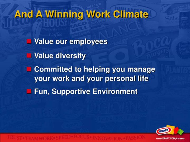 And A Winning Work Climate