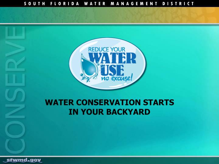 Water conservation starts in your backyard