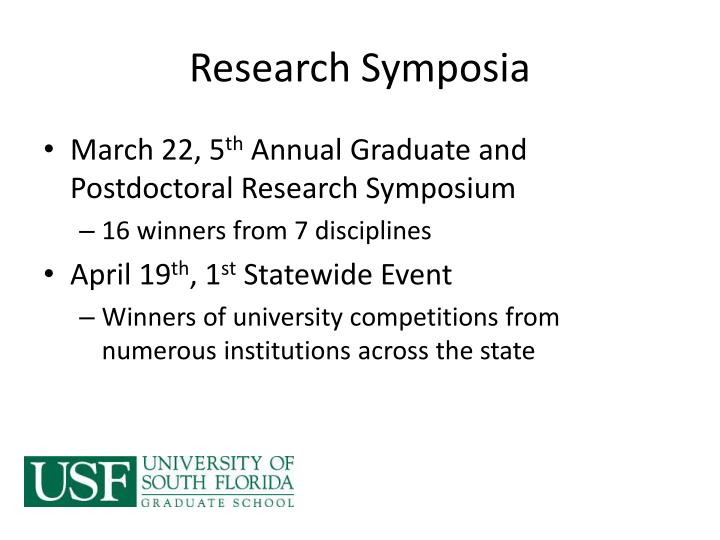 Research symposia