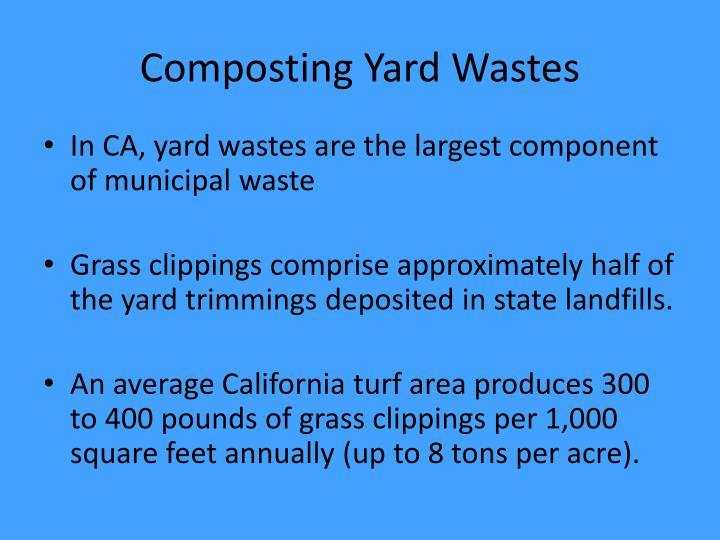 Composting Yard Wastes