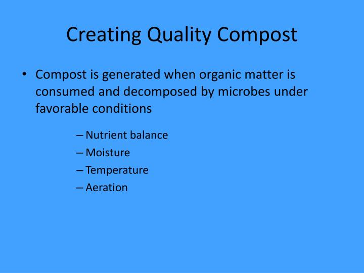 Creating Quality Compost