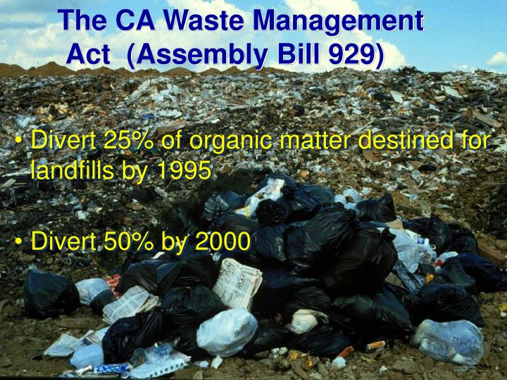 The CA Waste Management