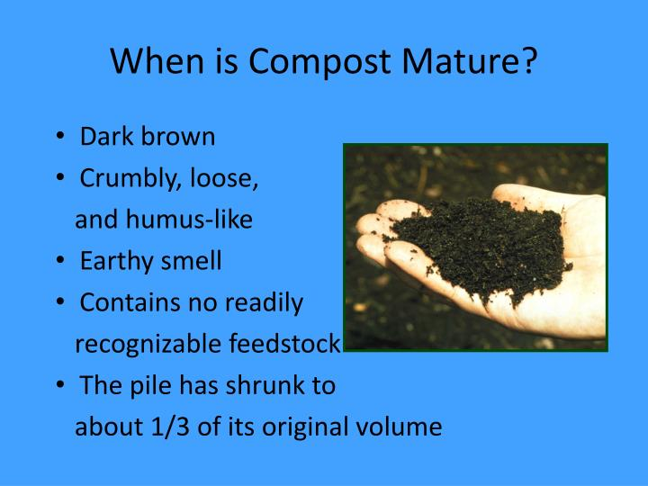 When is Compost Mature?