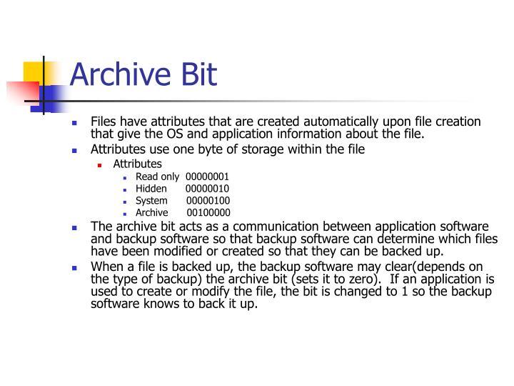 Archive Bit