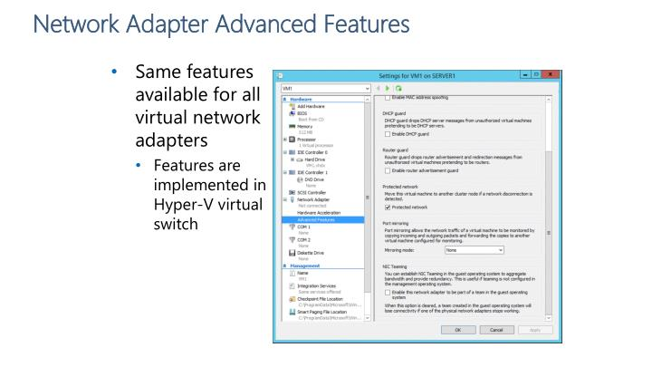 Network Adapter Advanced Features