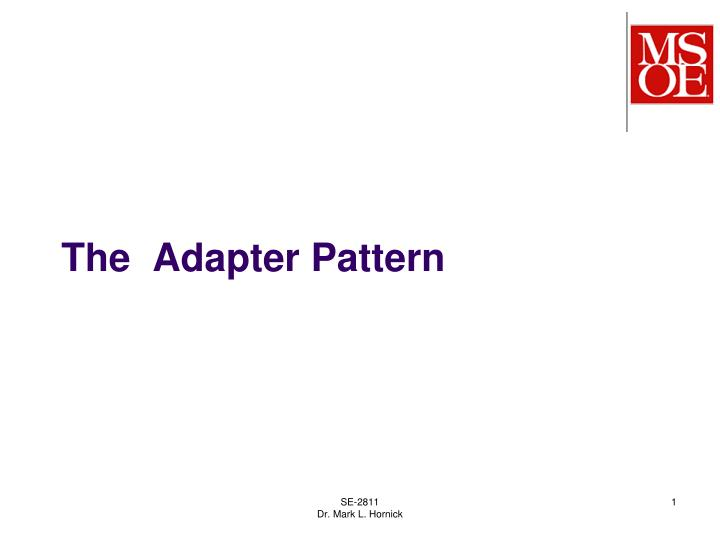 the adapter pattern n.