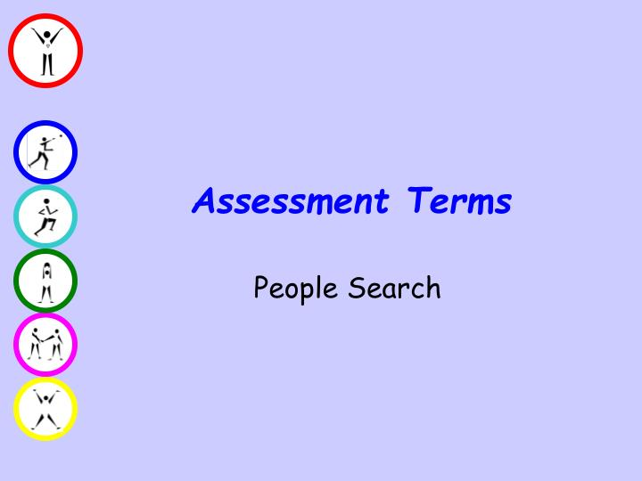 Assessment Terms