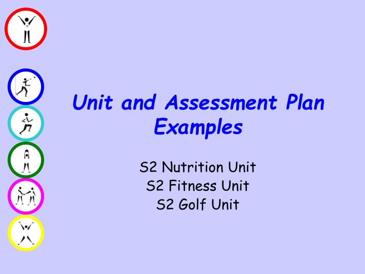 Unit and Assessment Plan Examples